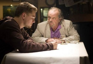 "Leonardo DiCaprio (left) and Jack Nicholson in 2005's ""The Departed"""